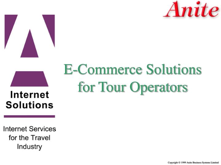 E-Commerce Solutions for Tour Operators
