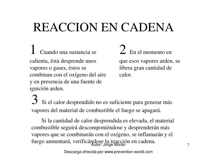 REACCION EN CADENA