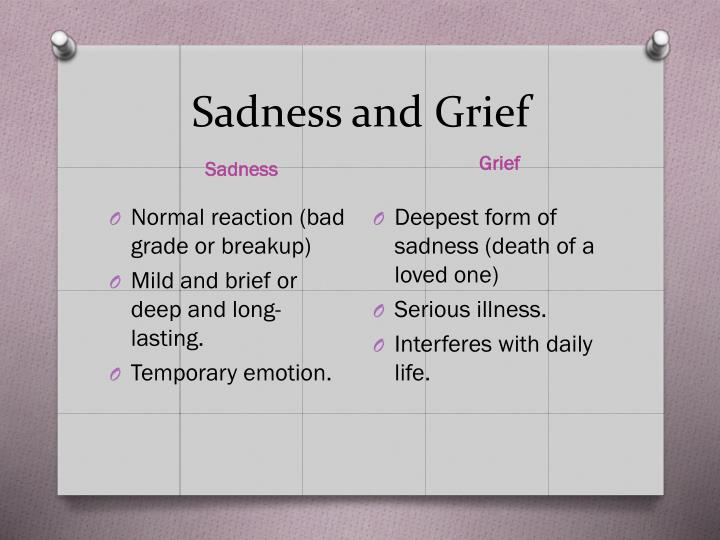 Sadness and Grief