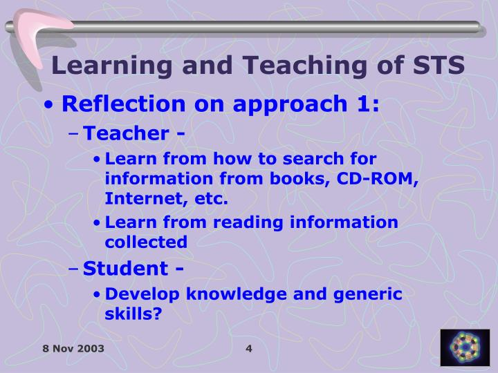 Learning and Teaching of STS