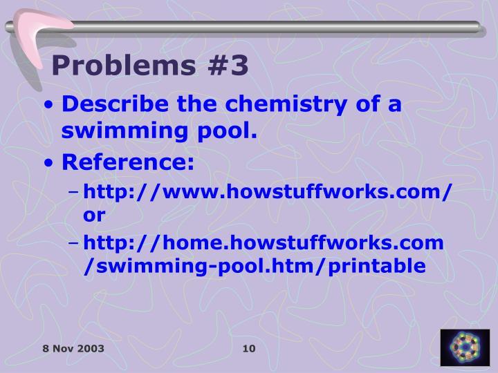 Problems #3