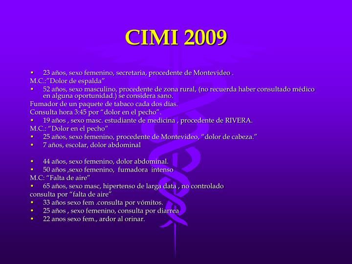 CIMI 2009