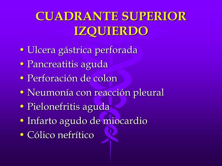 CUADRANTE SUPERIOR IZQUIERDO