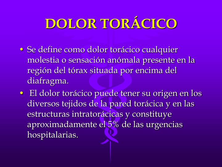 DOLOR TORÁCICO
