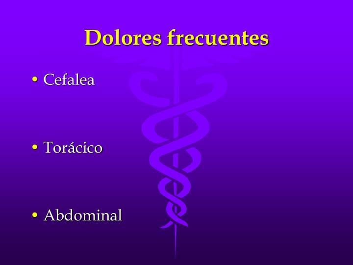Dolores frecuentes