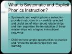 what is systematic and explicit phonics instruction