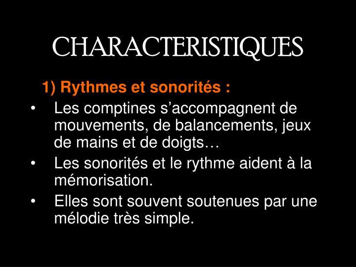 CHARACTERISTIQUES