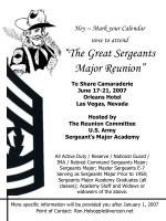 hey mark your calendar now to attend the great sergeants major reunion