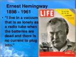ernest hemingway 1898 1961