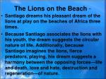 the lions on the beach
