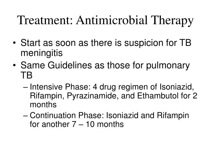 Treatment: Antimicrobial Therapy