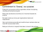 commitment to swaraj our purpose