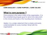 what is core purpose