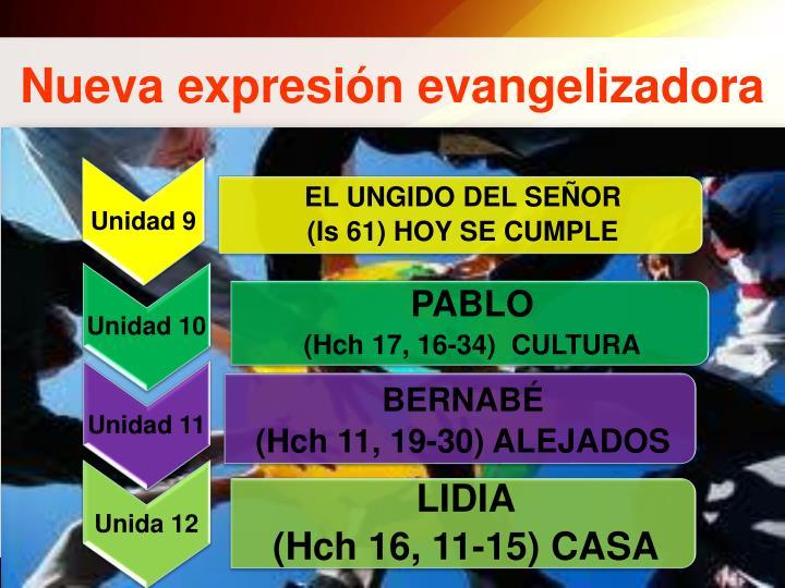 Nueva expresión evangelizadora