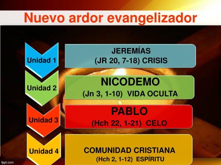 Nuevo ardor evangelizador