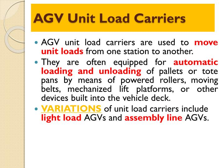 AGV Unit Load Carriers
