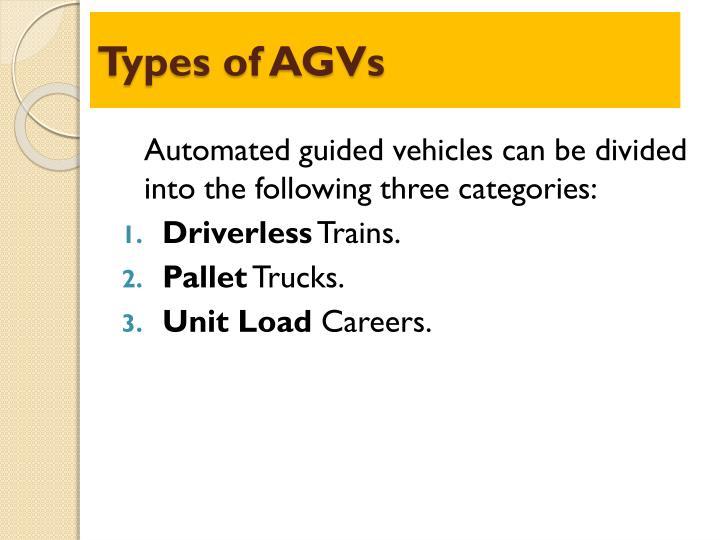 Types of AGVs