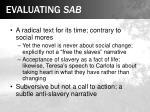 evaluating sab