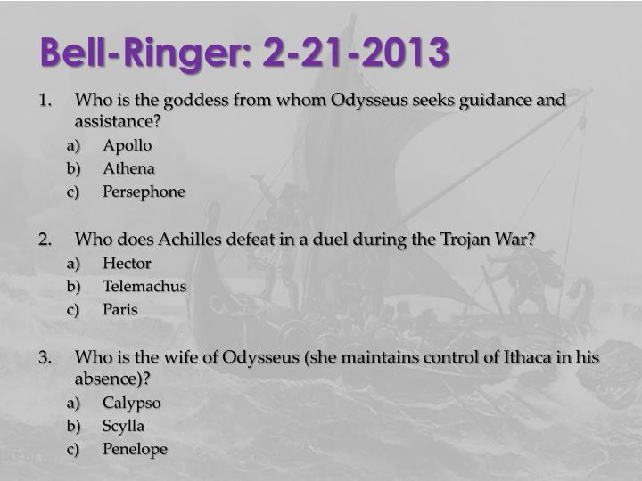 Bell-Ringer: 2-21-2013