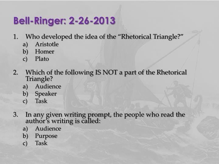 Bell-Ringer: 2-26-2013