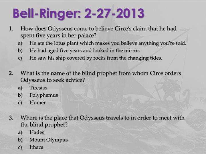 Bell-Ringer: 2-27-2013