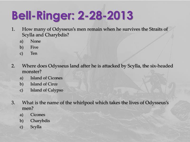 Bell-Ringer: 2-28-2013