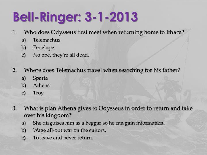Bell-Ringer: 3-1-2013