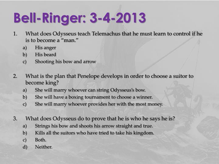 Bell-Ringer: 3-4-2013