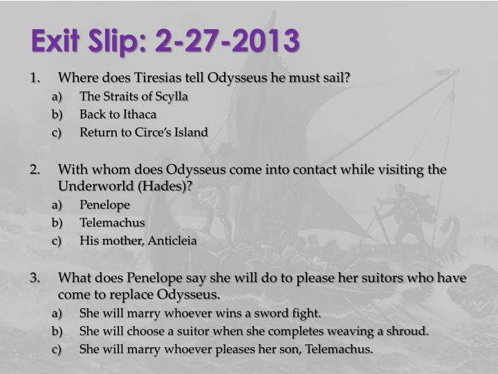 Exit Slip: 2-27-2013