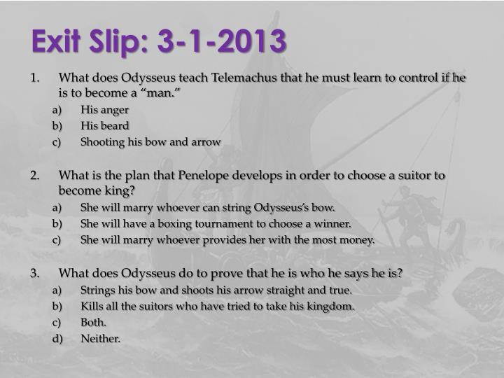Exit Slip: 3-1-2013