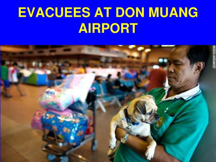 EVACUEES AT DON MUANG AIRPORT
