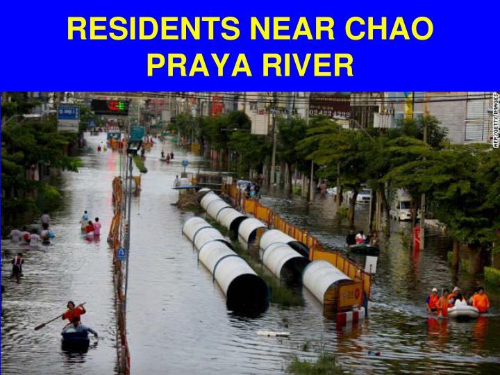 RESIDENTS NEAR CHAO PRAYA RIVER