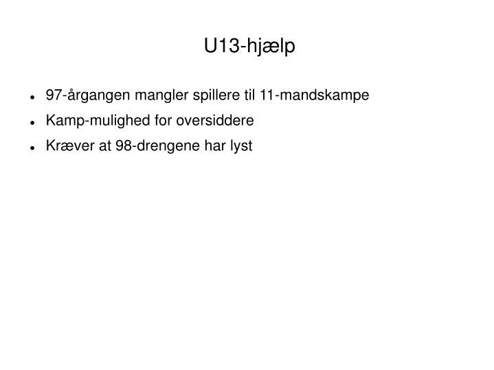 U13-hjælp