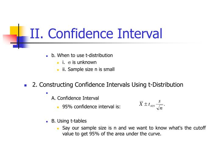 II. Confidence Interval