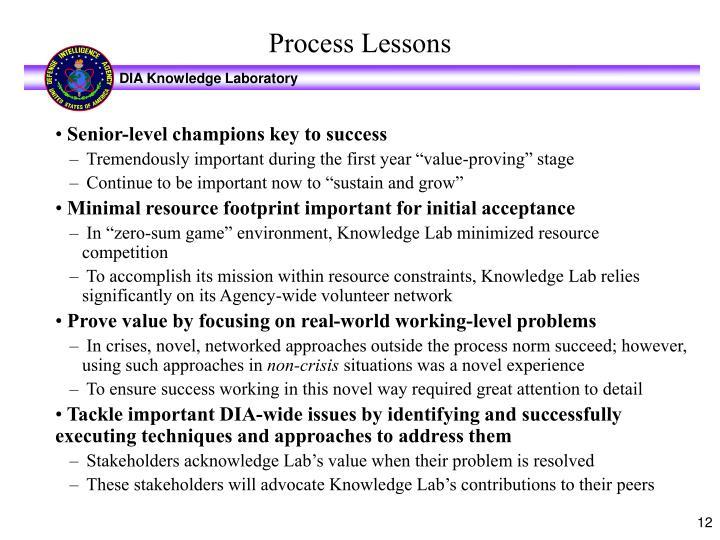Senior-level champions key to success