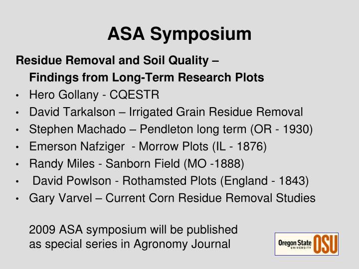 ASA Symposium
