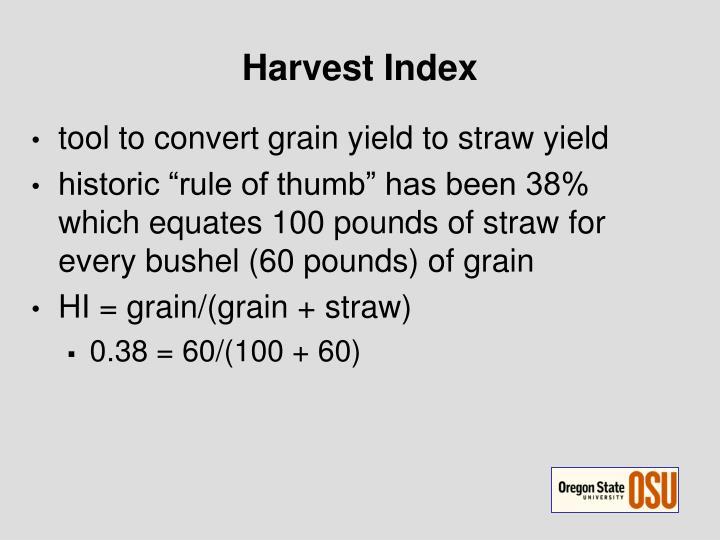 Harvest Index
