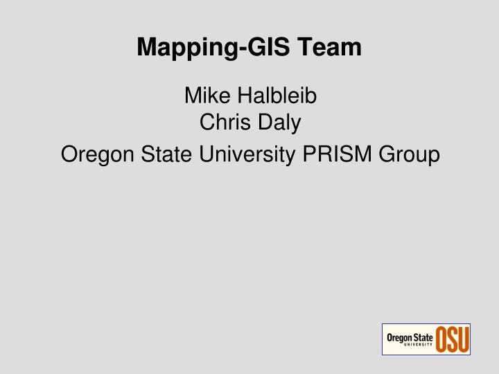 Mapping-GIS Team