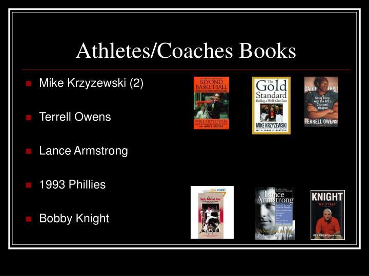 Athletes/Coaches Books