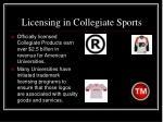 licensing in collegiate sports