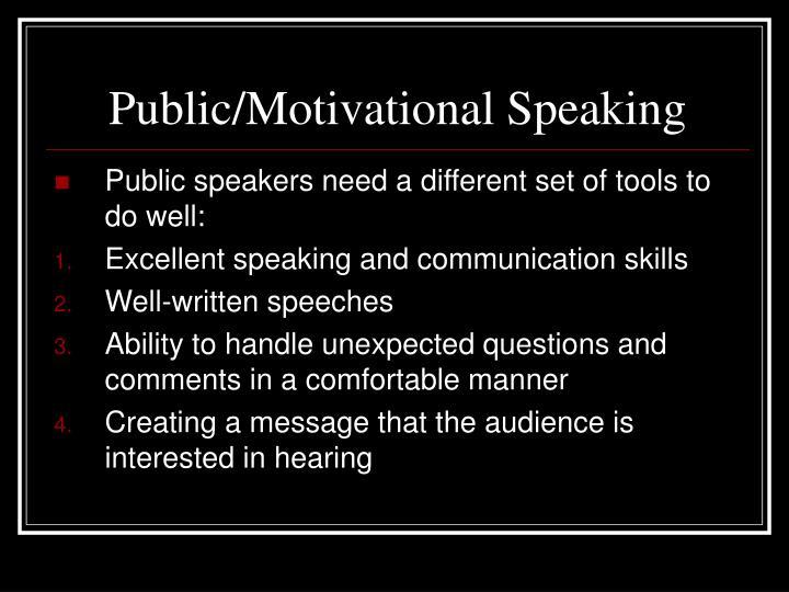 Public/Motivational Speaking