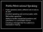 public motivational speaking