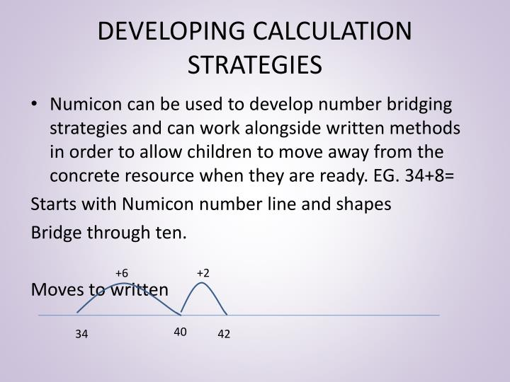DEVELOPING CALCULATION STRATEGIES
