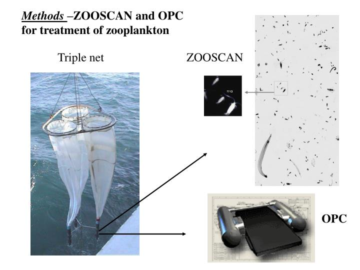 Methods zooscan and opc for treatment of zooplankton