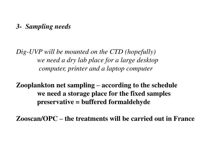 3-  Sampling needs