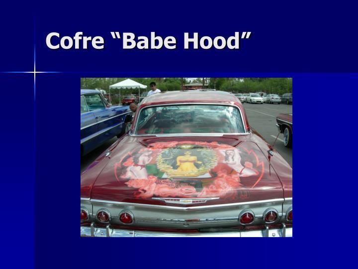 "Cofre ""Babe Hood"""