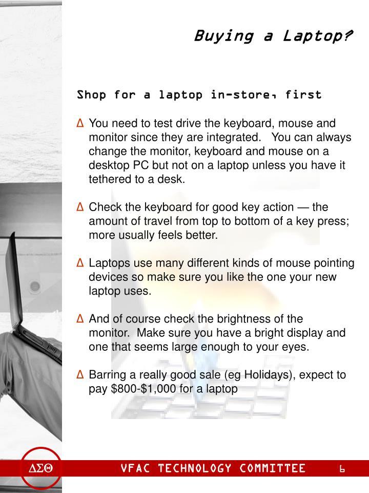 Buying a Laptop?