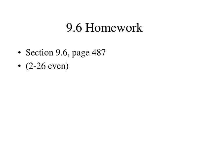 9.6 Homework
