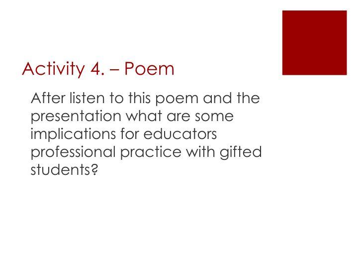 Activity 4. – Poem