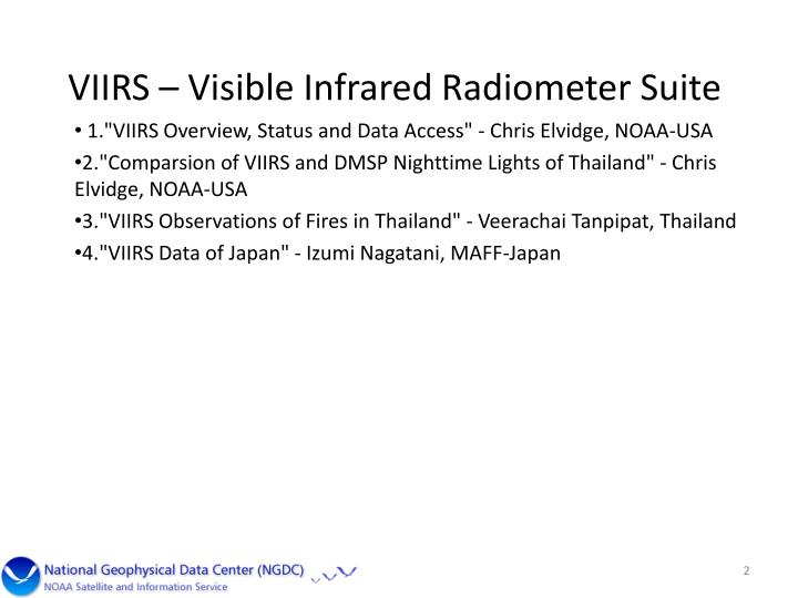 VIIRS – Visible Infrared Radiometer Suite